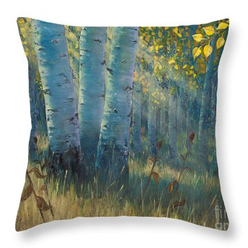 Three Sisters - Spirit Of The Forest Throw Pillow by Rob Corsetti