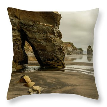 Three Sisters Throw Pillow by Werner Padarin