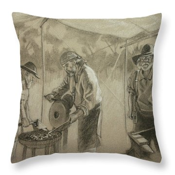 Three Smiths Throw Pillow