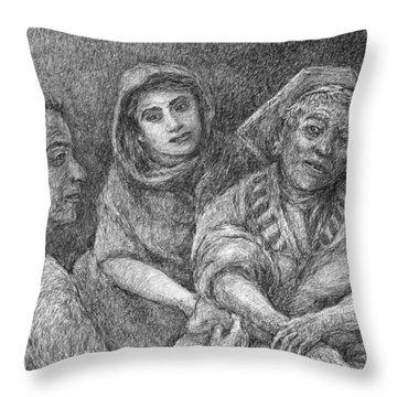 Three Spirits Throw Pillow