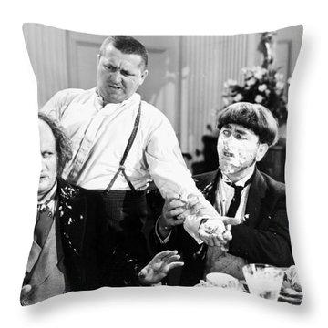 Three Stooges: Film Still Throw Pillow by Granger