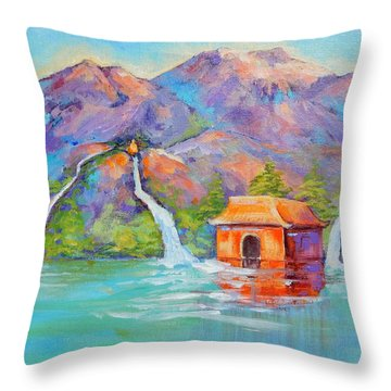 Three Streams Throw Pillow
