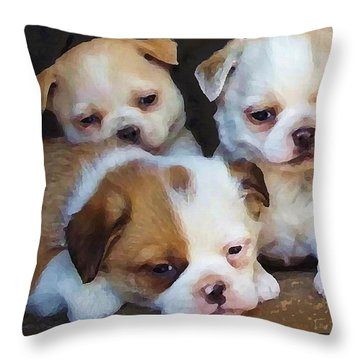 Three Sweeties Throw Pillow