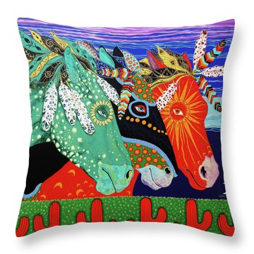 Three Visions Throw Pillow