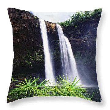 Three Waterfalls Throw Pillow by Peter French - Printscapes