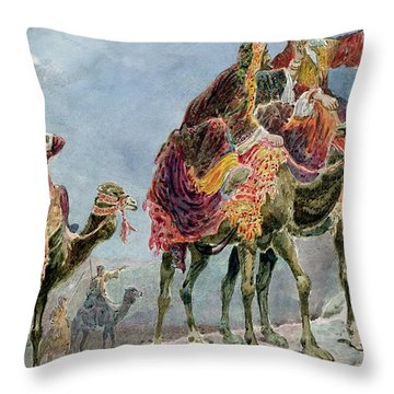 Three Wise Men Throw Pillow by Sydney Goodwin