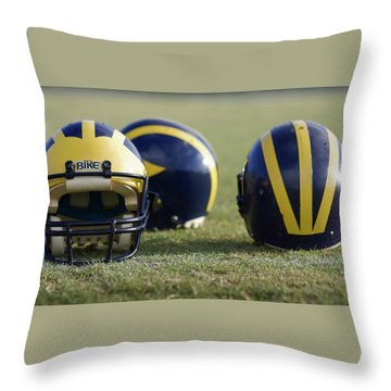 Three Wolverine Helmets Throw Pillow