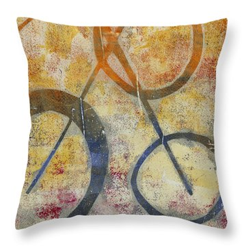 Three Worlds I Throw Pillow