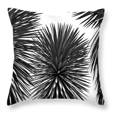 Three Yuccas Throw Pillow