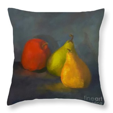 Three's A Crowd Throw Pillow by Genevieve Brown