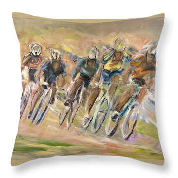 Thrill Of The Chase Throw Pillow by Jude Lobe
