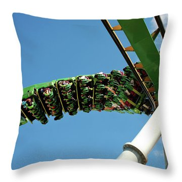 Thrill Ride Throw Pillow