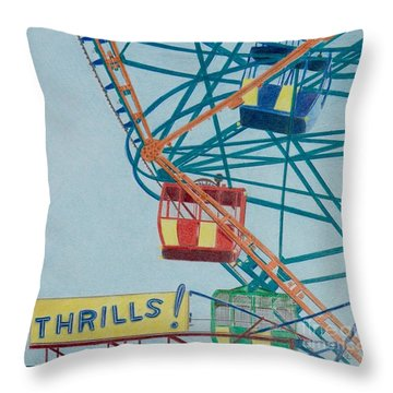 Thrills Throw Pillow
