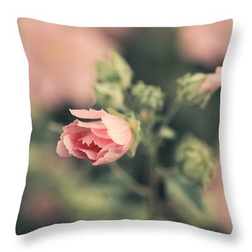 Thüringer Strauchpappel (lavatera Throw Pillow