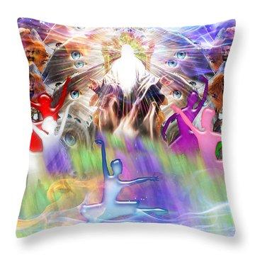 Throneroom Dance Throw Pillow by Dolores Develde