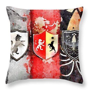 Thrones Throw Pillow