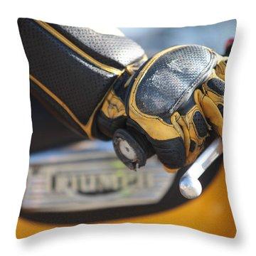 Throttle Hand Throw Pillow