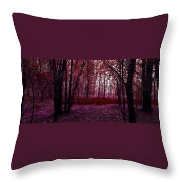 Through A Forest Throw Pillow