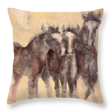 Brown Horse Throw Pillows