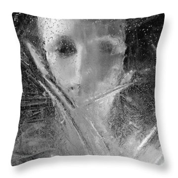 Through A Wintry Window Gaze... Thee Or Me? Throw Pillow