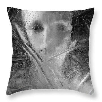 Through A Wintry Window Gaze... Thee Or Me? Throw Pillow