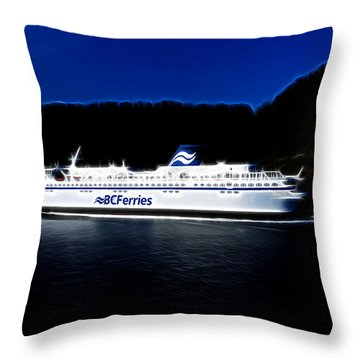 Through Active Pass Throw Pillow