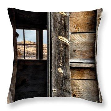 Through Cabin Window Throw Pillow