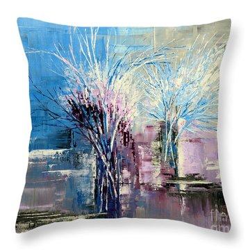 Through Morning's Light Throw Pillow by Tatiana Iliina