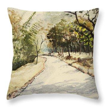 Through Mudumalai Forests Throw Pillow