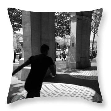 Through The Arches Throw Pillow