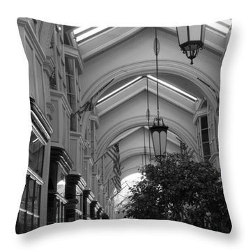 Through The Building Throw Pillow by M Valeriano