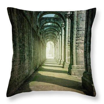 Through The Colonnade Throw Pillow