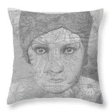 Through The Curtain Throw Pillow