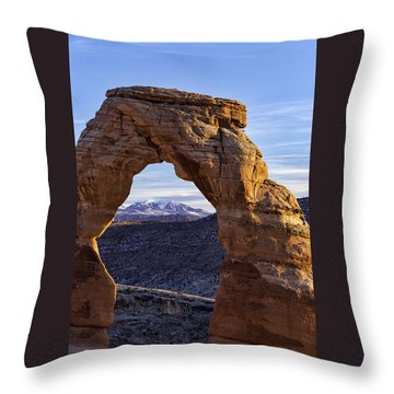 Through The Delicate Arch Throw Pillow