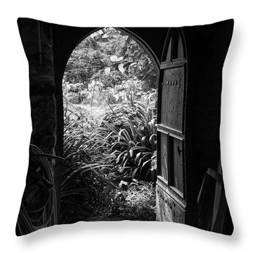 Throw Pillow featuring the photograph Through The Door by Clare Bambers