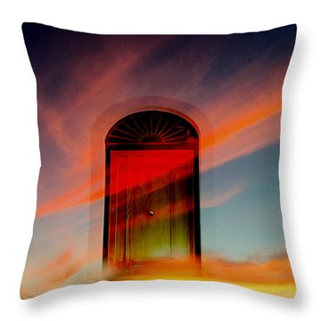 Through The Door Throw Pillow by Katy Breen