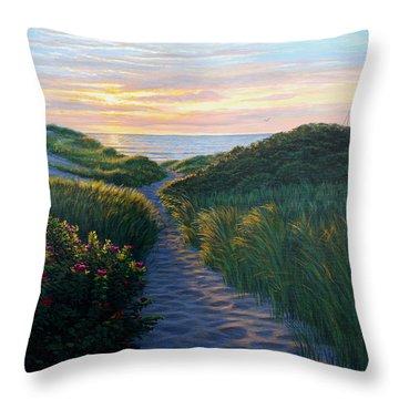 Through The Dunes Throw Pillow by Bruce Dumas