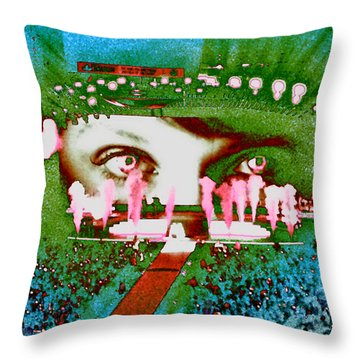 Through The Eyes Of Taylor Throw Pillow by Kim Peto