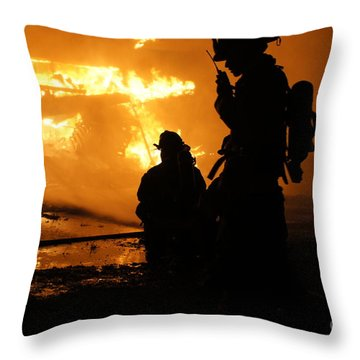 Through The Flames Throw Pillow by Benanne Stiens