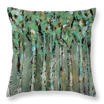 Through The Forest Throw Pillow by Kirsten Reed