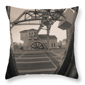 Through The Gear In Mystic Ct Throw Pillow