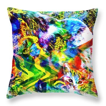 Through The Generations Throw Pillow