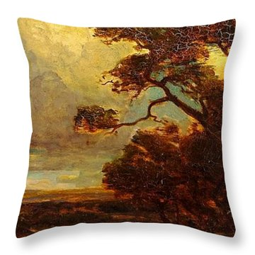 Through The Hills In Southwest Texas 1911 Without Border Throw Pillow