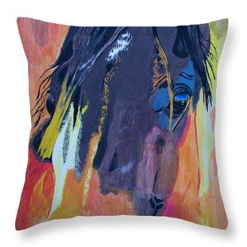 Through The Horse's Eyes Throw Pillow