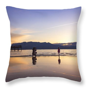 Through The Lens Of A Mother Throw Pillow