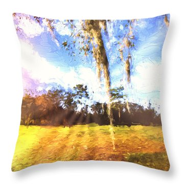 Through The Moss Throw Pillow