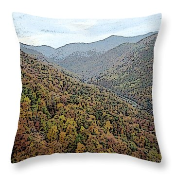 Throw Pillow featuring the photograph Through The Mountains by Skyler Tipton