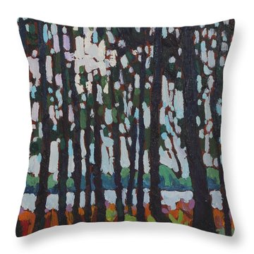 Through The Opinicon Forest Throw Pillow