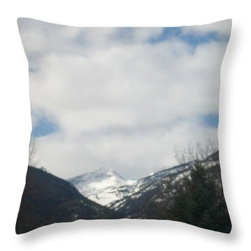 Throw Pillow featuring the photograph Through The Pass by Jewel Hengen