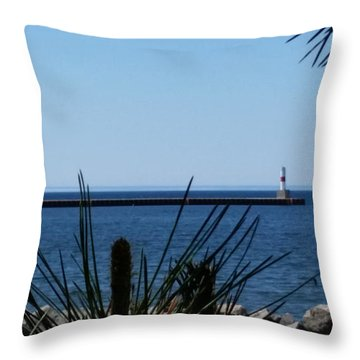 Through The Pines Throw Pillow by Wendy Shoults